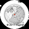 Outline Map of Dalbytorp, rectangular outline