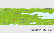 """Physical Panoramic Map of the area around 59°13'17""""N,15°22'30""""E"""