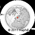 Outline Map of Skåne, rectangular outline