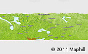 "Physical Panoramic Map of the area around 59° 34' 34"" N, 13° 40' 30"" E"