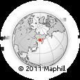 Outline Map of Magadan, rectangular outline