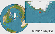 """Satellite Location Map of the area around 59°34'34""""N,45°49'30""""W"""