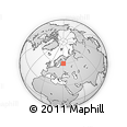 Outline Map of Simple World, rectangular outline