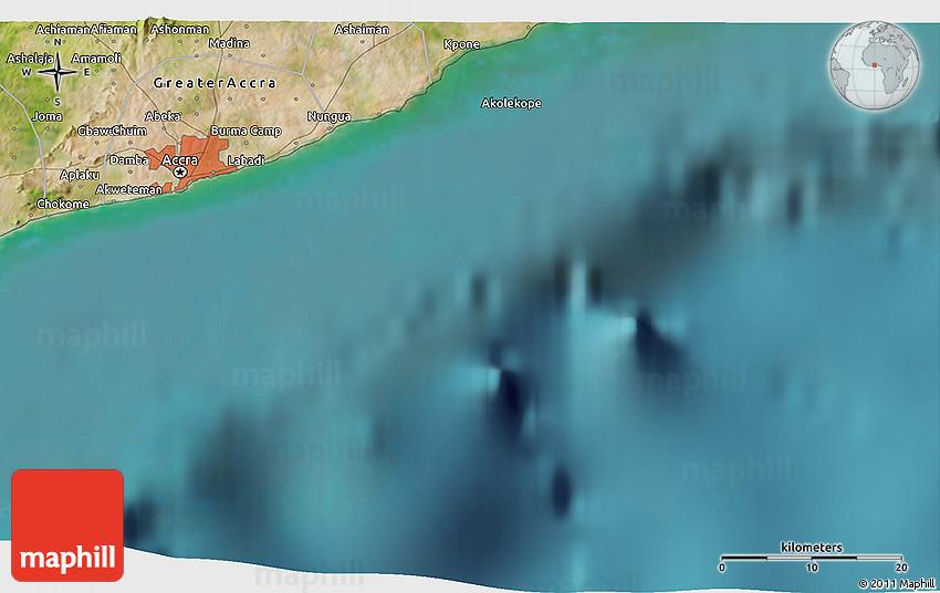 Satellite 3D Map of Madina