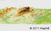 """Physical Panoramic Map of the area around 5°25'24""""N,116°31'30""""E"""