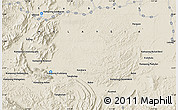 """Shaded Relief Map of the area around 5°25'24""""N,117°22'30""""E"""