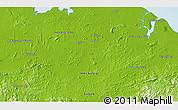 Physical 3D Map of Kampong Litang