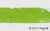 Physical Panoramic Map of Kampong Litang