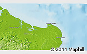 """Physical 3D Map of the area around 5°25'24""""N,119°4'29""""E"""