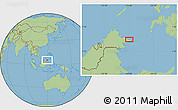 "Savanna Style Location Map of the area around 5°25'24""N,119°4'29""E"