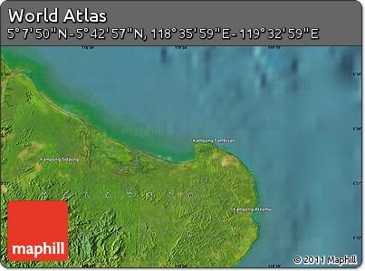 "Satellite Map of the Area around 5°25'24""N,119°4'29""E"