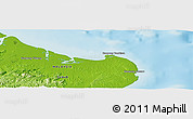"""Physical Panoramic Map of the area around 5°25'24""""N,119°4'29""""E"""