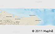 """Shaded Relief Panoramic Map of the area around 5°25'24""""N,119°4'29""""E"""