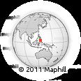 Outline Map of Balut Island, rectangular outline