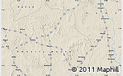 """Shaded Relief Map of the area around 5°25'24""""N,18°46'29""""E"""