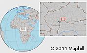 Gray Location Map of Zoungouyassi