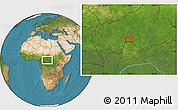 Satellite Location Map of Zoungouyassi