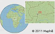 Savanna Style Location Map of Zoungouyassi