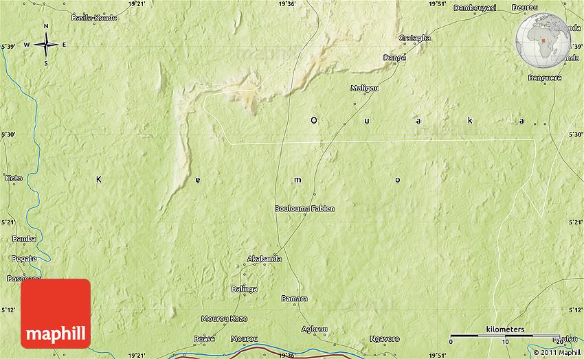 Physical Map Of Bidili