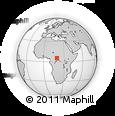 Outline Map of Maligou, rectangular outline