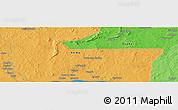 Political Panoramic Map of Zoungouyassi