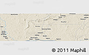 Shaded Relief Panoramic Map of Zoungouyassi