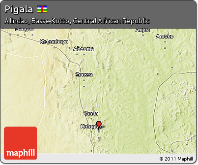Physical 3D Map of Pigala