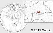 Blank Location Map of Ngalanda