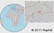 Gray Location Map of Ngalanda