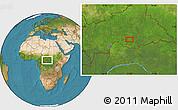 Satellite Location Map of Ngalanda