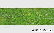 Satellite Panoramic Map of Ngalanda