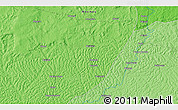 Political 3D Map of Bakolé