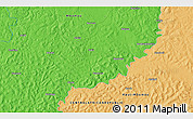 Political 3D Map of Ariab