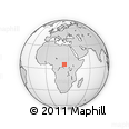 Outline Map of Ariab, rectangular outline