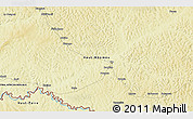 """Physical 3D Map of the area around 5°25'24""""N,26°25'29""""E"""