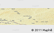 """Physical Panoramic Map of the area around 5°25'24""""N,26°25'29""""E"""