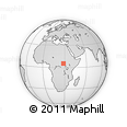 """Outline Map of the Area around 5° 25' 24"""" N, 28° 7' 30"""" E, rectangular outline"""