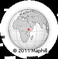 Outline Map of Gidole, rectangular outline