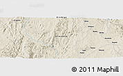 "Shaded Relief Panoramic Map of the area around 5° 25' 24"" N, 39° 10' 29"" E"
