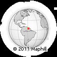 Outline Map of Kwakwani, rectangular outline