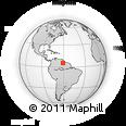 Outline Map of Parque Nacional Canaima, rectangular outline