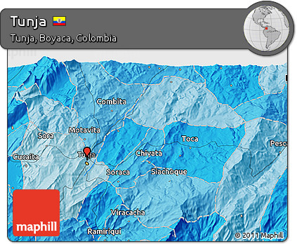 Free Political D Map Of Tunja - Tunja map