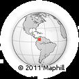 Outline Map of Tunja, rectangular outline