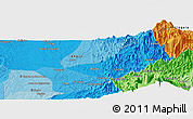 """Political Panoramic Map of the area around 5°25'24""""N,76°25'30""""W"""