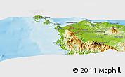 Physical Panoramic Map of Banda Aceh