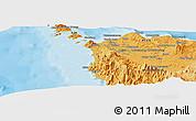 Political Panoramic Map of Banda Aceh