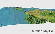 Satellite Panoramic Map of Banda Aceh
