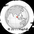 Outline Map of Lhokseumawe, rectangular outline