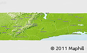 """Physical Panoramic Map of the area around 5°56'49""""N,0°4'30""""E"""