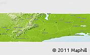 Physical Panoramic Map of Ankwaieso